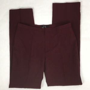 Zara Maroon Straight Leg Dress/Career Pants * 10